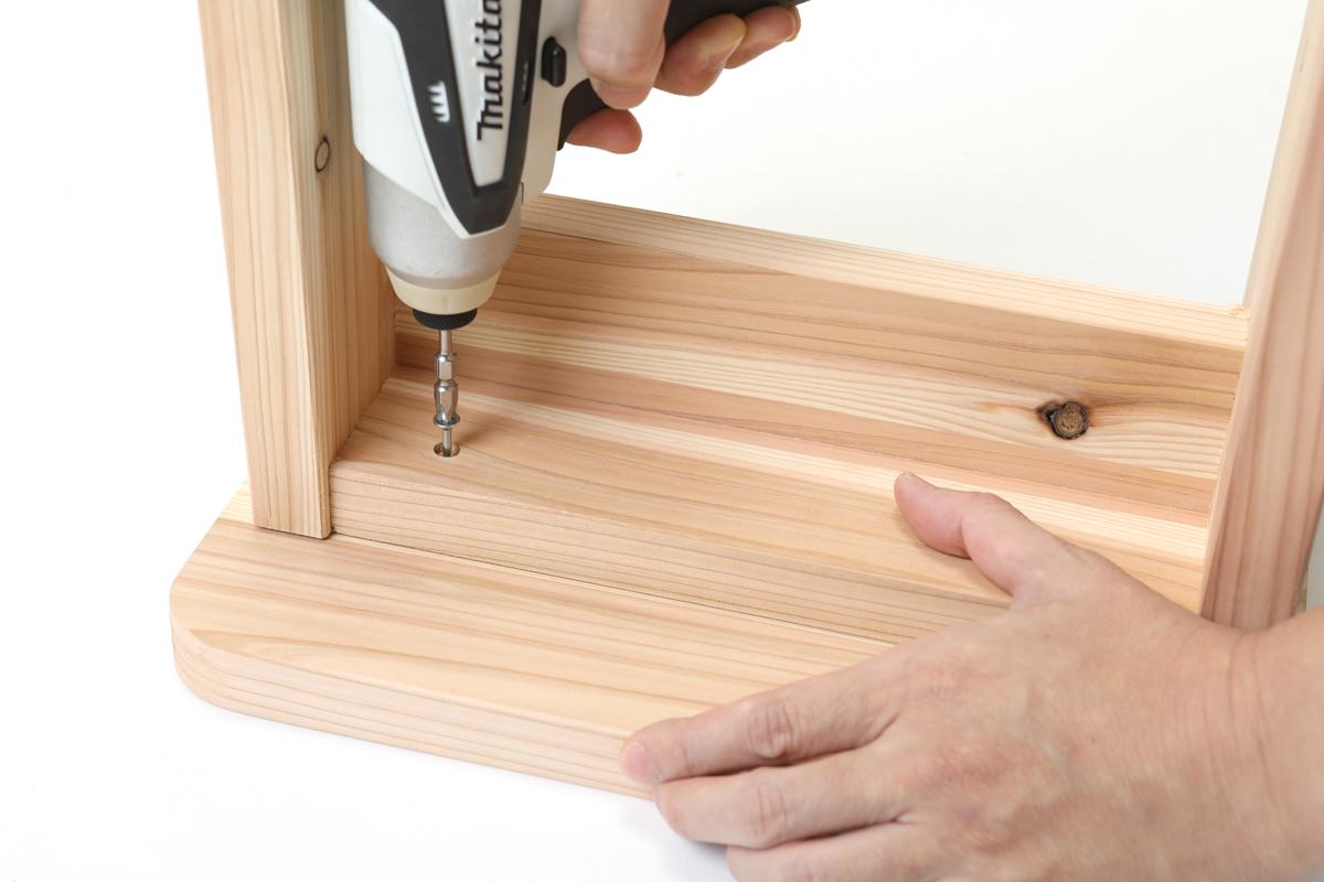 ご家庭にある工具で手作りできます