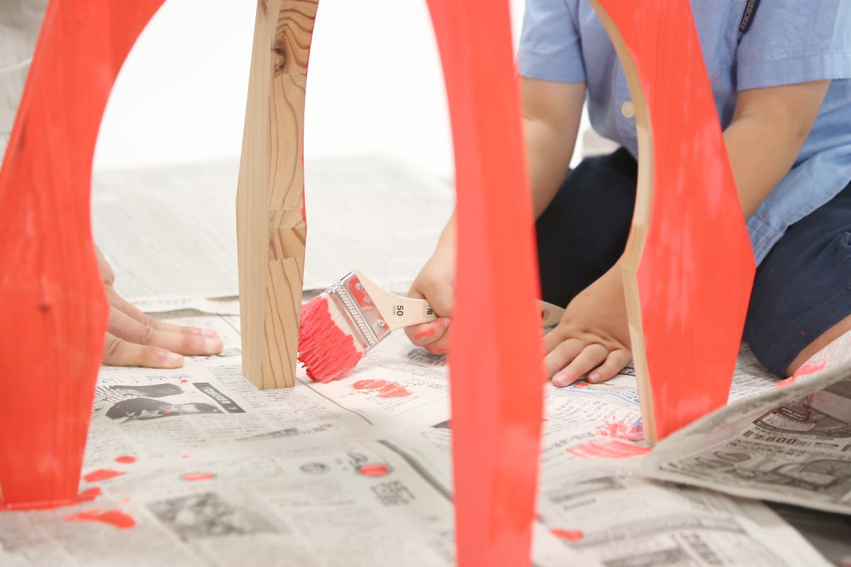 好きな色を塗って、オリジナルの家具に仕上げよう